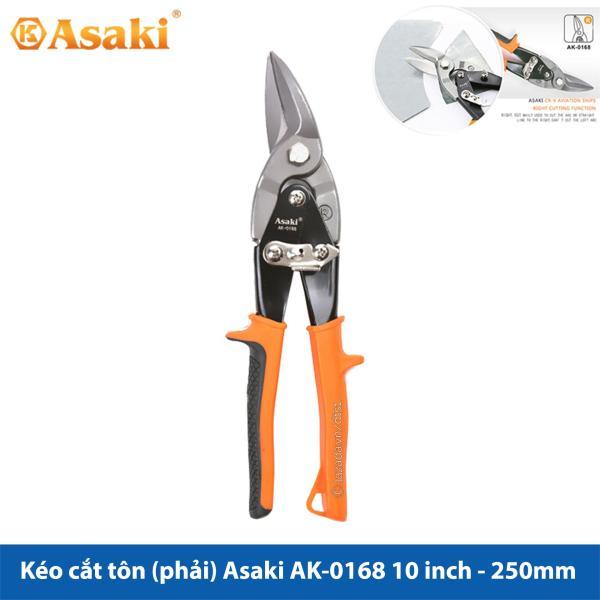 Kéo cắt tôn (tole) mũi cong phải Asaki AK-0168 10inch/250mm