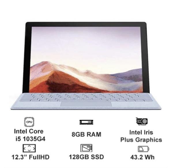 Surface pro 7 12.3 inch chính hãng Microsoft core i5/8gb/128gb mới 100%