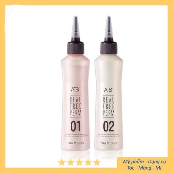 [Hàng cho Salon] Thuốc uốn lạnh ATS không mùi cao cấp 150ml x2 giá rẻ