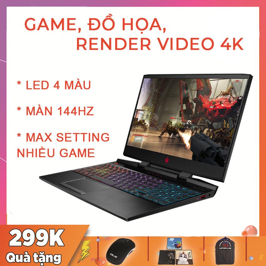 HP Omen 15 2019 Chuyên Gaming, Render Video 4K, Đồ Họa, i7-9750H, RAM 16G, SSD NVMe 256G, VGA NVIDIA GTX 1660 Ti-6G, màn 15.6 FullHD IPS, 144Hz, Viền Siêu Mỏng