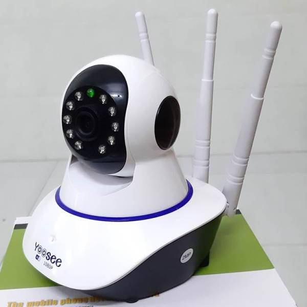 Camera wifi/ip app yoosee 3 râu trong nhà  FULL HD 1080P - 2.0MP khe thẻ nhớ trên đầu camera