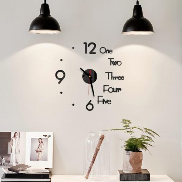 Đồng hồ dán tường trang trí nhà cửa, đồ dùng gia đình, đồng hồ kim, đồng hồ trang trí (DHD40), tuancua