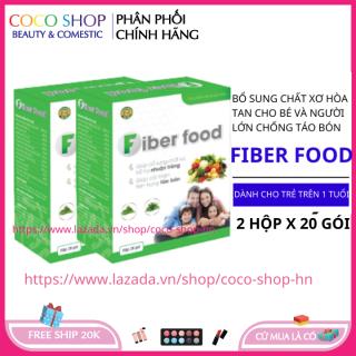 Combo 2 hộp chất xơ hòa tan cho bé từ rau củ quả chống táo bón cho bé HSD 2023 - coco shop hn thumbnail