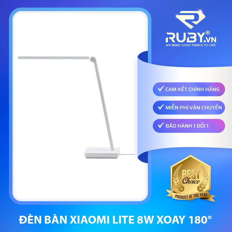 Đèn bàn Xiaomi Lite 8W xoay 180°, ánh sáng LED bảo vệ mắt, chịu lực, chịu nhiệt