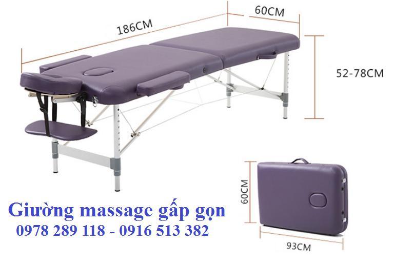 Giường massage di động chân hợp kim nhôm cao cấp HL2