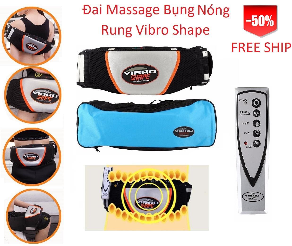 Đai Massage Bụng Vibro Shape Perfect Sbuy Mart Hàng Tuyển Sale Sốc, Giảm Béo Đa Năng, Sản Phẩm Nhập Khẩu