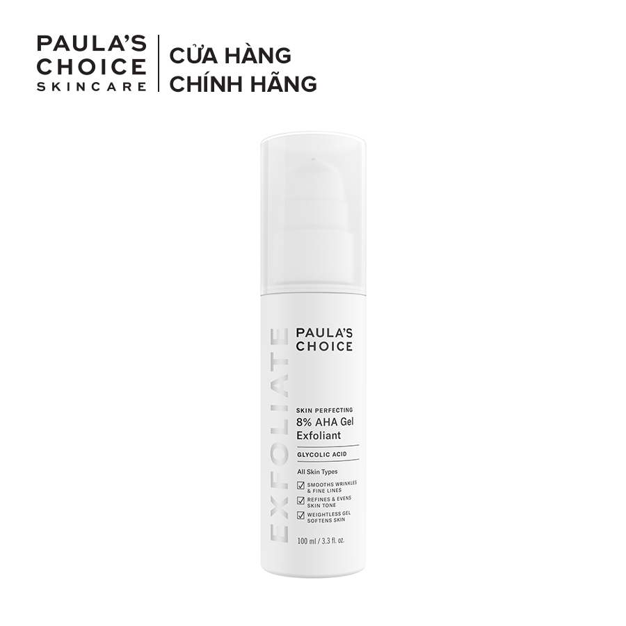 Gel loại bỏ tế bào chết Paulas Choice Skin Perpecting  8% AHA Gel Exfoliant 100ml Mã: 1900 cao cấp
