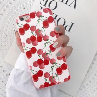 Ốp lưng bền họa tiết quả cherry xinh xắn cho iPhone 6 6s 6 plus 6s plus 7 7 plus 8 8 plus x xr xs xsmax ( Ốp dẻo ) - ốp silicon - ốp iphone-OP41C thumbnail