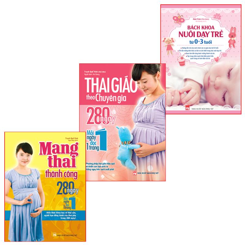 Sách: Combo Thai Giáo Theo Chuyên Gia + Mang Thai Thành Công + Bách Khoa Từ 0-3 Tuổi