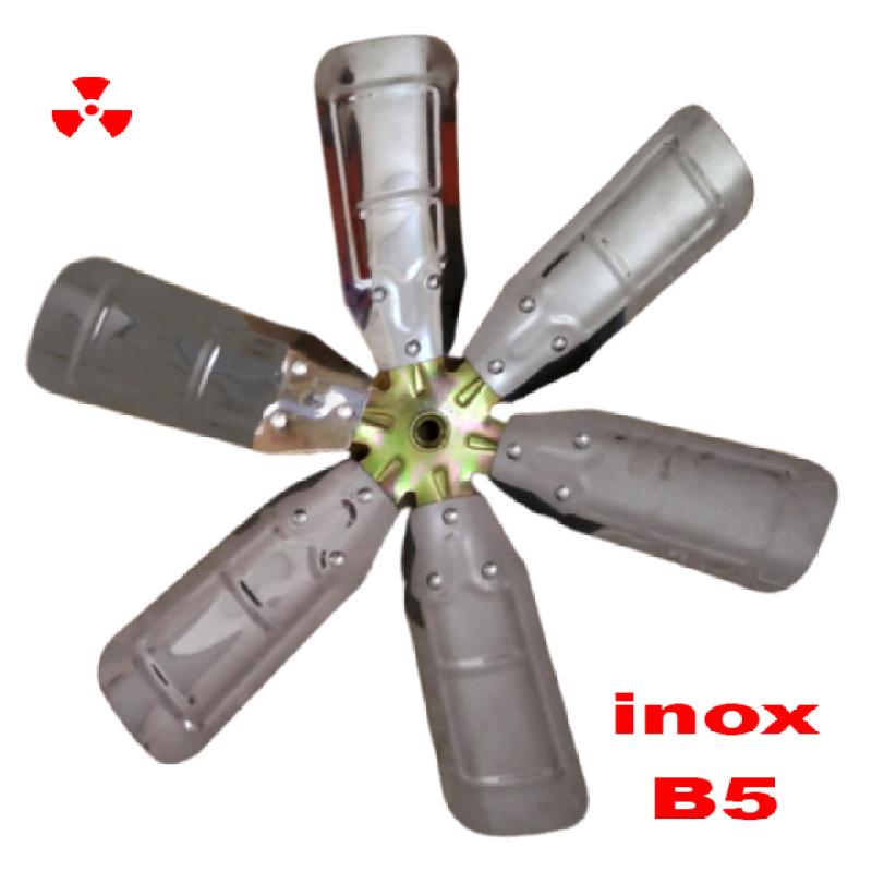 Cánh quạt inox 6 lá B5 ( 5 tấc ) công nghiệp cao cấp - thông gió, quạt lò , hút nhiệt bếp - quạt gió tuộc bin phát điện mini