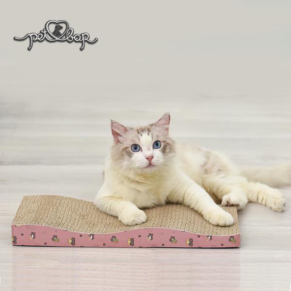 [TẶNG CATNIP] Bàn cào móng hình chữ M cho mèo giảm căng thẳng – Trụ cào móng mèo tặng kèm cỏ bạc hà Catnip