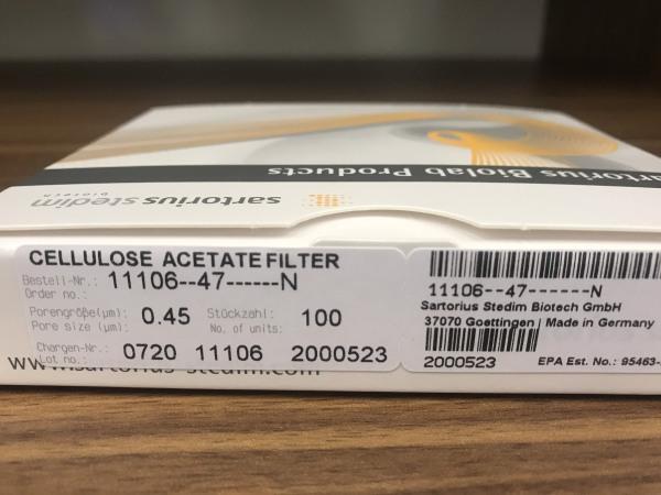 Màng lọc Cellulose Acetate (CA) - Sartorius 11106-47-N