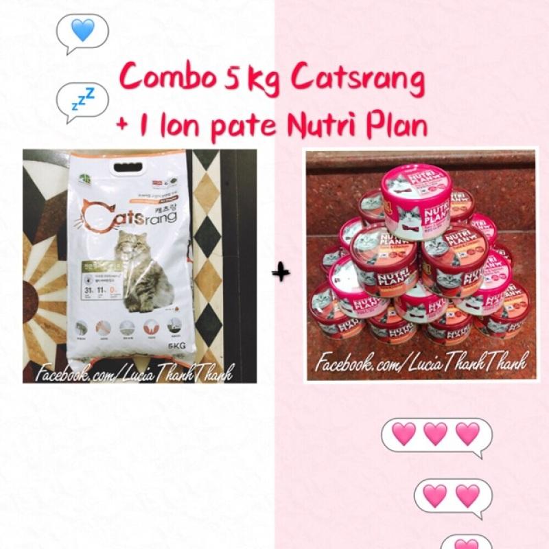 Combo Bịch 5 kg catseang + 1 lon pate Hàn Quốc Nutri Plan