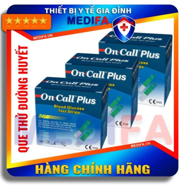 [Date xa] Hộp 50 que thử On-Call Plus, mỗi hộp 2 lọ 25 que thử, có chip mã que thử, chính hãng ACON bán chạy