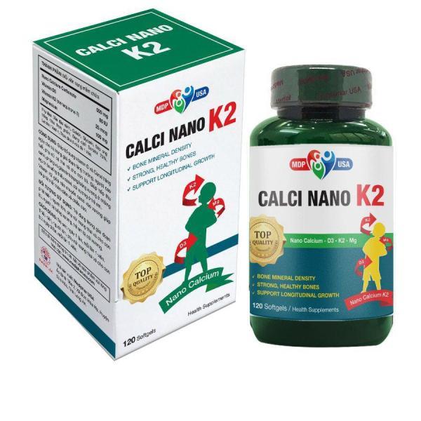 Thực phẩm hỗ trợ tăng chiều cao, phòng loãng xương, còi xương CALCI NANO K2 SOFTGELS 120 viên giá rẻ