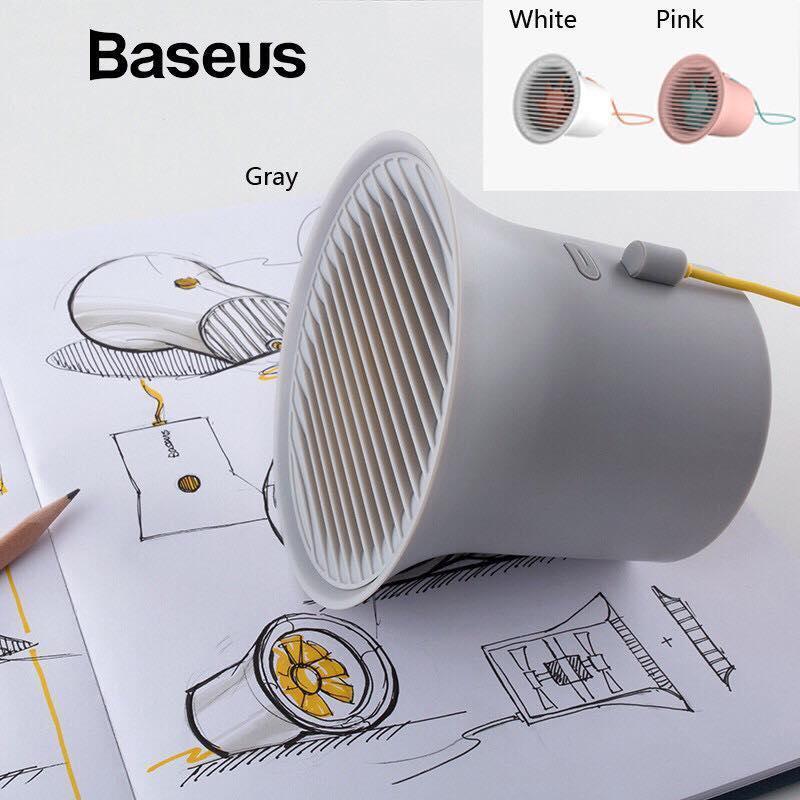 Quạt mini USB để bàn hình loa siêu mát - Baseus Mini USB Cooler Fan Protable