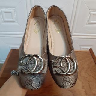 Giày slip-on lười nữ GC loại đẹp màu đen V210 (ảnh thật) thumbnail