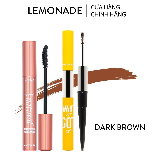Combo Lemonade Mascara SuperNatural 7.5g và chì kẻ mày 2 đầu Want It Got It 2.75g