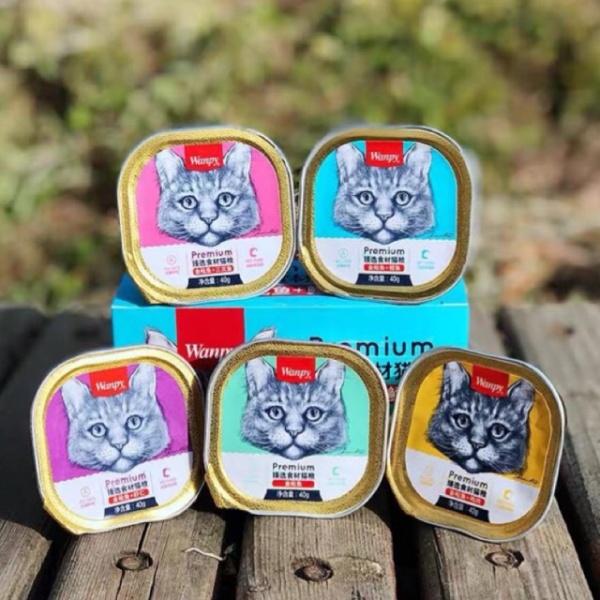 Pate Wanpy Premium Mousse Cho Mèo Hộp 40G