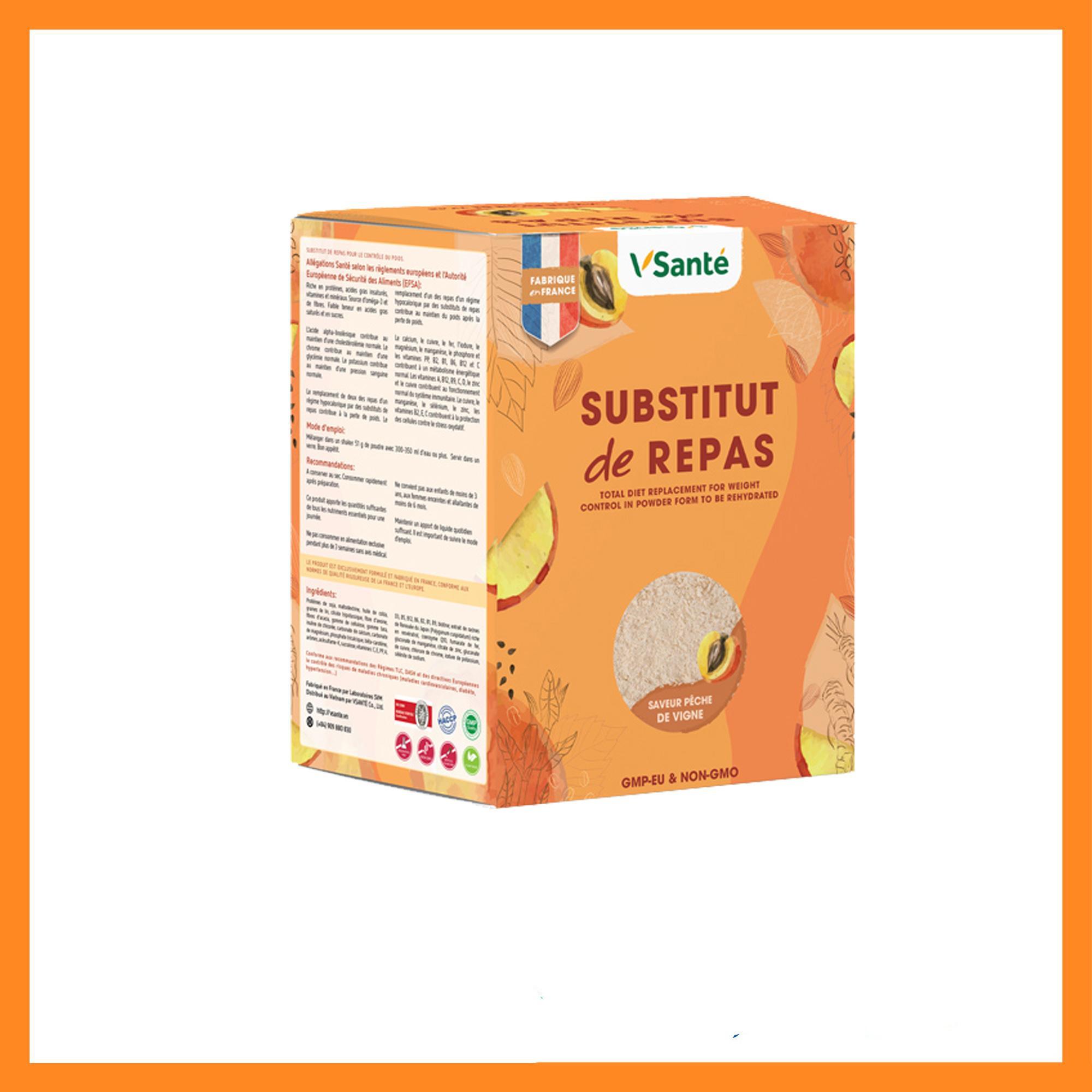 Combo 02 hộp Thức uống tăng cân, tốt cho sức khoẻ [ Bữa ăn cân bằng VSanté] – Vị Đào cao cấp