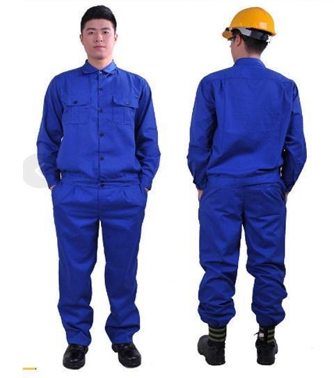 Bộ áo và quần bảo hộ lao động vải kaki xanh công nhân size XXL