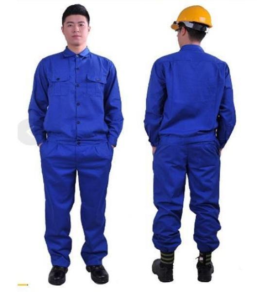 Bộ quần áo bảo hộ lao động màu xanh công nhân size M
