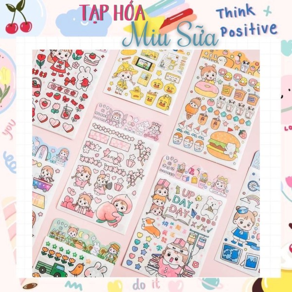 Set 4 tấm sticker em bé dễ thương - MiuSua