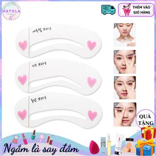 HATOLA - Khuôn kẻ lông mày Hàn Quốc SET 3 khuôn tiện lợi giúp nàng xinh đẹp KKM thumbnail
