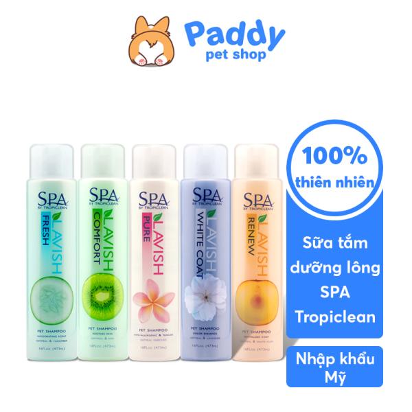 Sữa Tắm Gội Dưỡng Lông Chó Mèo Tropiclean Spa Lavish 473ml (Nhập khẩu Mỹ)