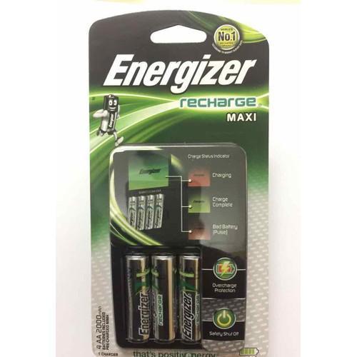 Voucher tại Lazada cho Sạc Nhanh Tự Ngắt ENERGIZER CHVCM4 Kèm 4 Pin AA Energizer 2000mAh - Bộ Sạc Pin ENERGIZER CHVCM4