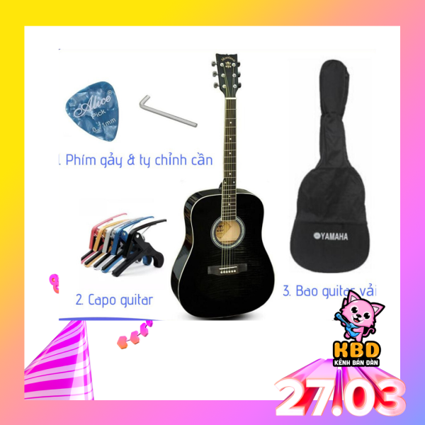 Đàn guitar MORRISON MGW 405BK/CBK TẶNG APP HỌC ĐÀN + bao đàn 1 lớp + capo + pick và ty chỉnh cần.
