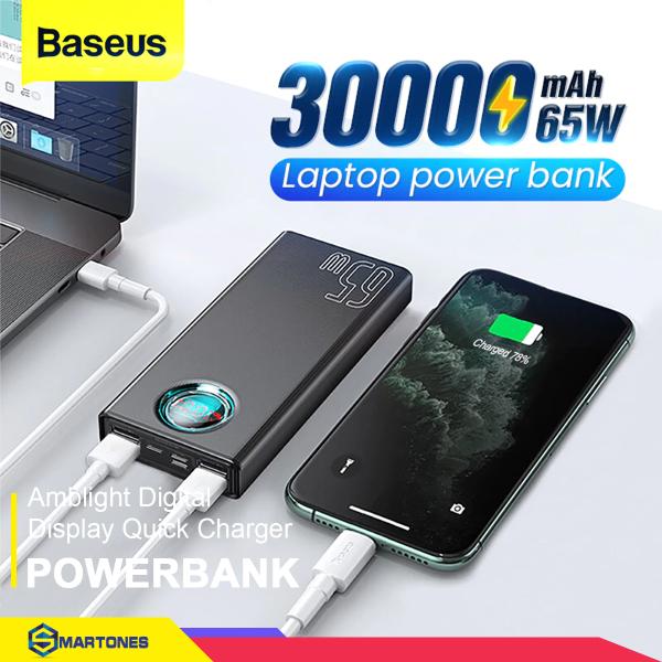Pin dự phòng Baseus 65W và 33W dung lượng 30.000mAh hỗ trợ QC 3.0 FCP SCP cho điện thoại, Macbook, Laptop..