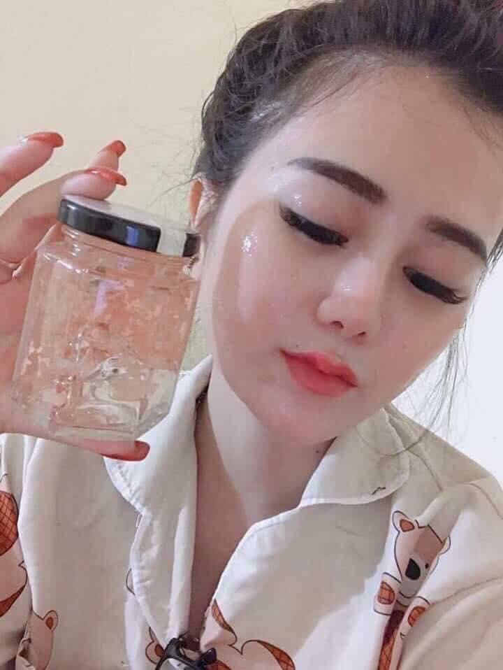 Mặt nạ yến tươi collagen hương hoa hồng nhập khẩu
