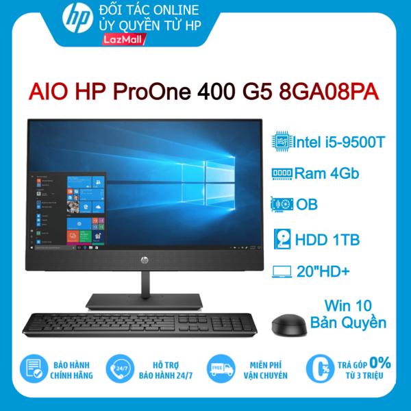[Trả góp 0%]Máy tính để bàn PC AIO HP ProOne 400 G5 8GA08PA i5-9500/4GB/1TB/20HD+/Win10-Hàng chính hãng new 100%