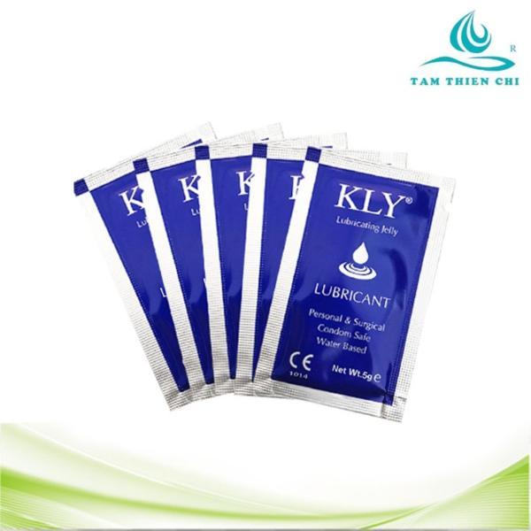 Gel bôi trơn dạng gói gốc nước an toàn KLY (bộ 5 gói x 5ml) nhập khẩu