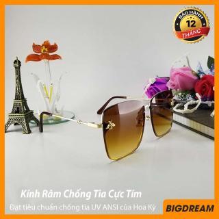 Mắt kính thời trang nữ cao cấp BDBEE8060, Tròng kính chạm khắc hình ong, Siêu phẩm dành cho giới trẻ - Kính thời trang nữ chống tia UV - Bảo hành 12 tháng 1 đổi 1 - Tặng kèm hộp đựng, khăn lau thumbnail