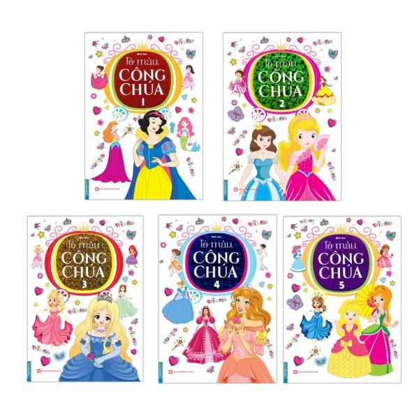 Sách - Combo Tô Màu Công Chúa (Trọn Bộ 5 Tập )