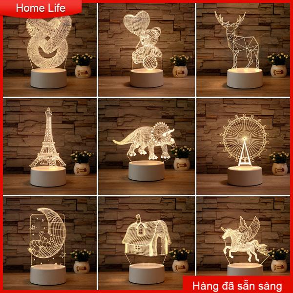 Đèn ngủ 3D LED trang trí bàn-hai màu có thể lựa chọn. Màu ánh sáng có 3 màu: trắng, vàng, vàng nhạt, (đậm: đỏ-tím-xanh) bằng cách tắt mở đèn để thay đổi bảng màu chuẩn bị nó là tốt Colorful Night Light Atmosphere Light