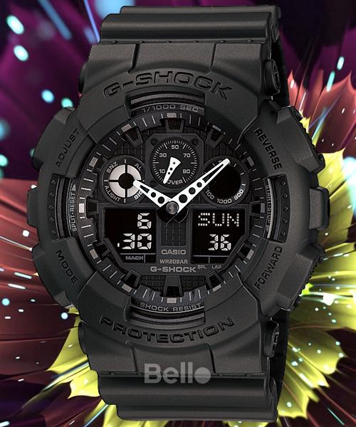 Đồng hồ nam G-SHOCK GA100 (FULL ĐEN) SUPER siêu chống nước + Tặng kèm pin + Bảo hành 6 tháng + BELLO SHOP bán chạy