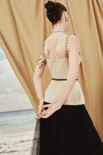 MAVEN - Chân váy đen lưới tầng Charm thumbnail
