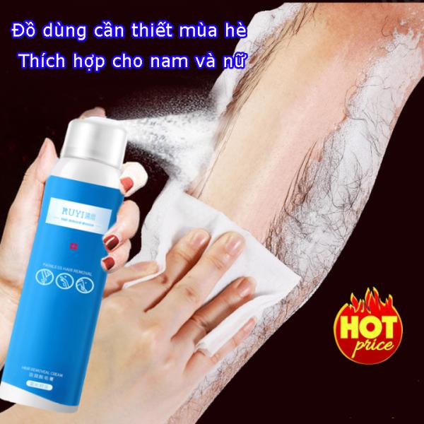 120ml  Xịt Tẩy Lông Sản Phẩm Không Thể Thiếu Trong Mùa hè,dịu nhẹ không đau rát, triệt lông an toàn cho mọi loại da ,Kem Tẩy Lông  triệt lông nách, chân,body, tay,  an toàn và không gây kích ứng da