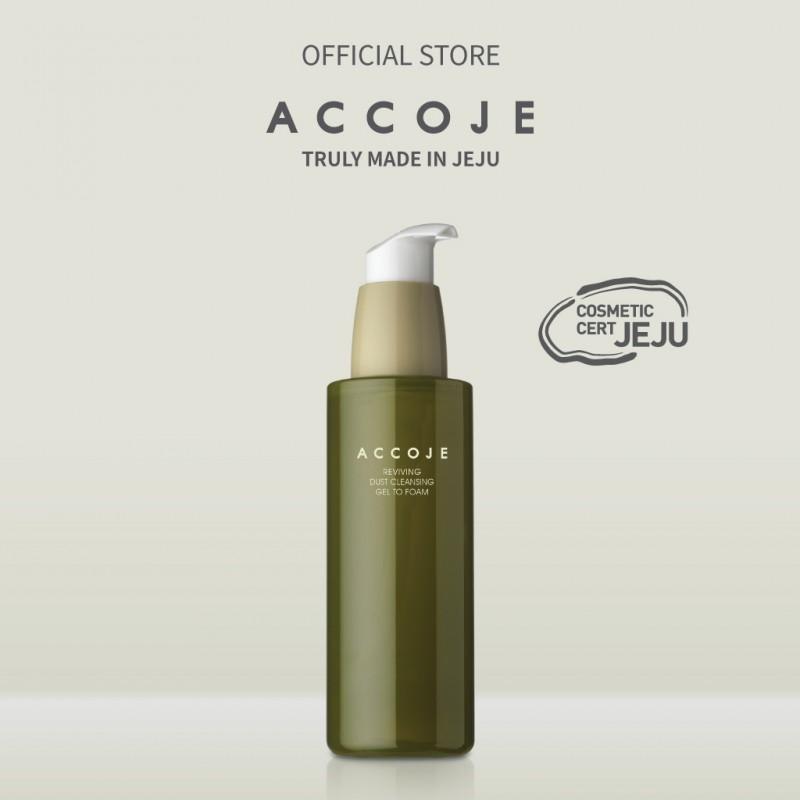Gel rửa mặt sạch sâu Accoje Reviving Dust Cleansing Gel to Foam