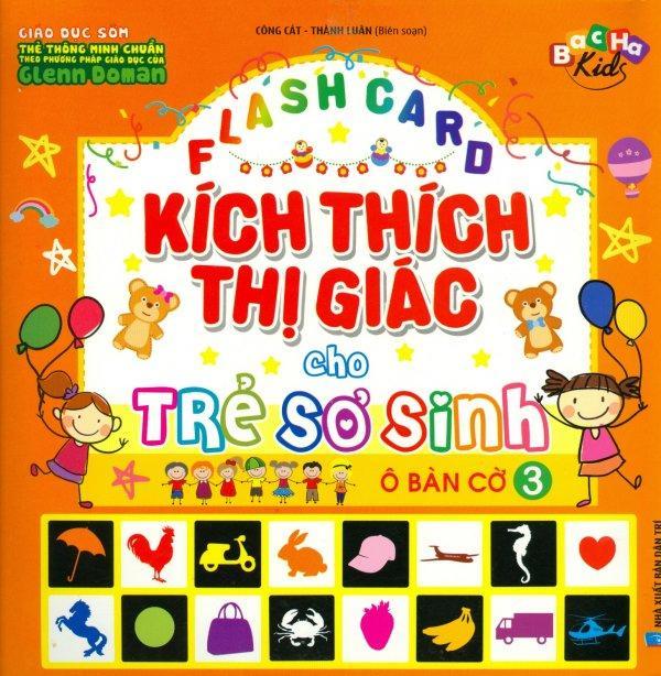 Mua Flash Card Kích Thích Thị Giác Cho Trẻ Sơ Sinh - Tập 3: Ô Bàn Cờ - Công Cát,Thành Luân