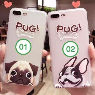 Ốp lưng iphone hình chó PUG dễ thương cute chất liệu nhựa dẻo cho iPhone 6 6s 6Plus 6sPlus 7 7Plus 8 8Plus X XS XR XS Max ( Được chọn mẫu ) a48 thumbnail