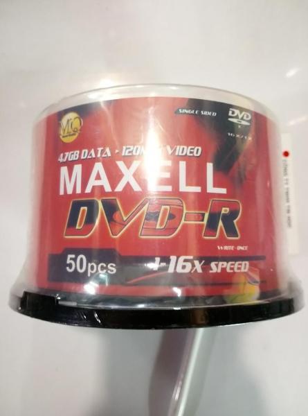 Bảng giá Đĩa trăng DVD-R MAXELL TAIWAN - 16X - 4.7GB - 120MIN  (Lốc 50 cái) Phong Vũ