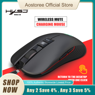 HXSJ T30 2.4GHz Optical Wireless Mouse Rechargeable Silent Gaming Mouse 3600DPI Ergonomic Mice LED Backlit for PC Laptop thumbnail