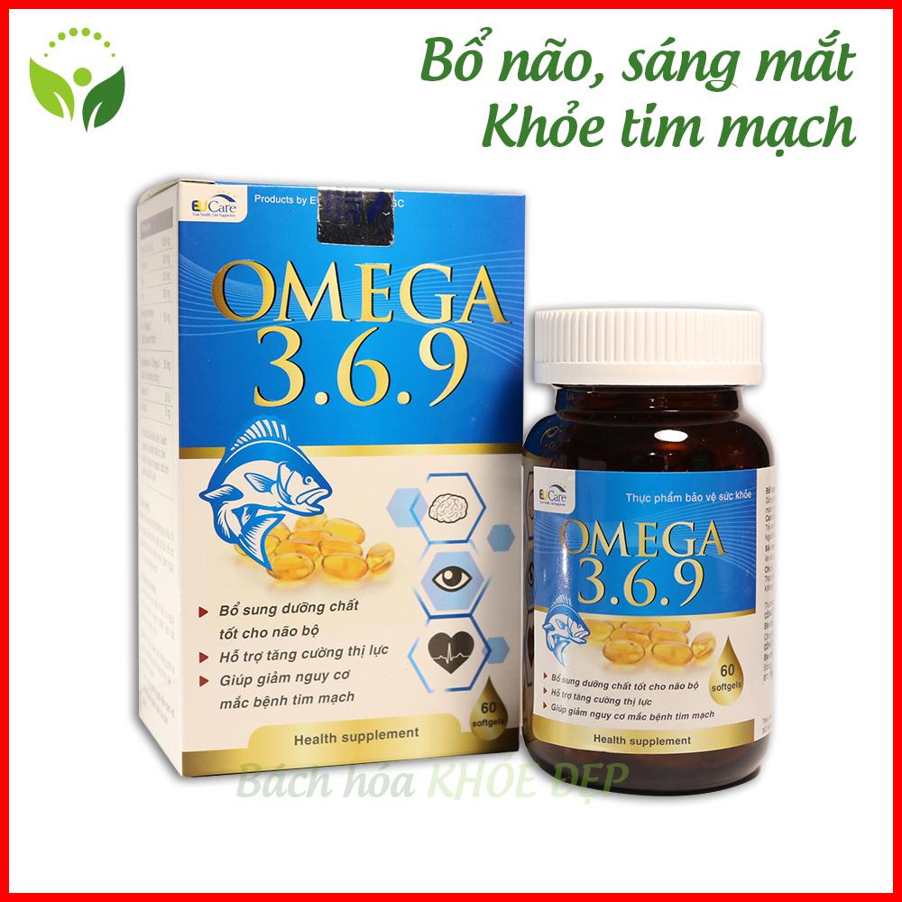 Hộp 60 viên dầu cá Omega 369 bổ não, sáng mắt, khỏe tim mạch