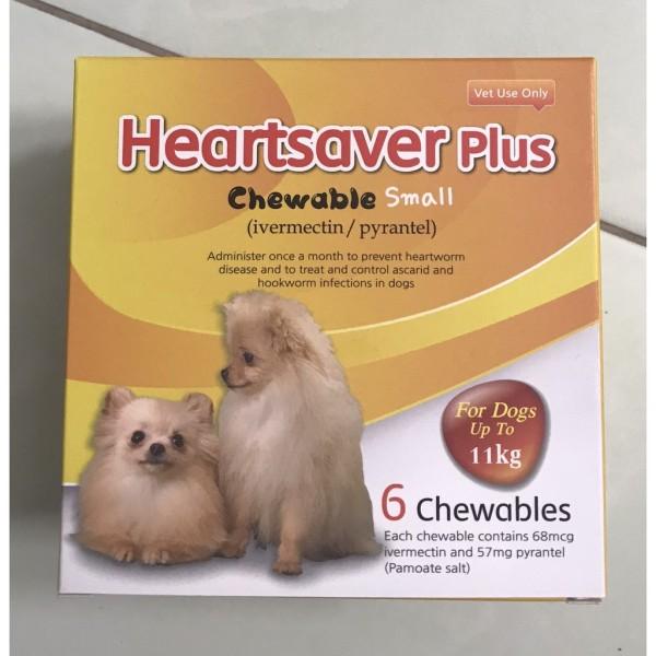 Heartsaver Plus Chewable viên sổ giun cho chó dưới 11kg