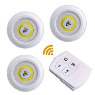 [GD224] Bộ 3 đèn led mini dán tường, có remote điều khiển từ xa , có chức năng hẹn giờ trang trí phòng ngủ, tủ quần áo thumbnail