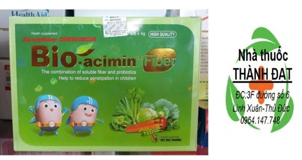 Bioacimin FIBER giảm táo bón cho trẻ hộp 30 gói bio acimin